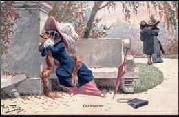 * Hund Und Katze Personifiziert Sign. A. Thiele FED 481 - Thiele, Arthur