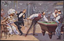 * Billiard Sign. A. Thiele TSN 1155 - Thiele, Arthur