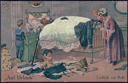 * Auf Urlaub Endlich Im Bett Sign. A. Thiele - Thiele, Arthur