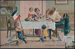 * Auf Urlaub Gesegnete Mahlzeit Sign. A. Thiele 1916 - Thiele, Arthur