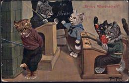* Hunde Personifiziert Sign. A. Thiele TSN 962, Ecken Best., Knick - Thiele, Arthur