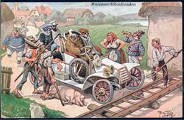* Automobil Sign. A. Thiele FED 433 Etwas Best. - Thiele, Arthur