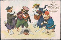 * Hunde Vermenschlicht, ähnlich Thiele 1910 - Thiele, Arthur