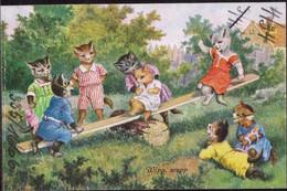 * Katzen Sign. F. Rowi, Frotbeschriftung - Thiele, Arthur