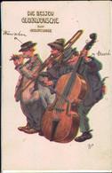 *, Gest. 2 AK's Glückwunsch/Gruss Aus... Sign. Arthur Thiele - Thiele, Arthur