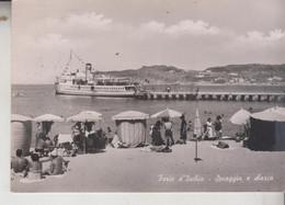 FORIO D'ISCHIA NAPOLI SPIAGGIA E SBARCO TRAGHETTO VG - Napoli (Naples)
