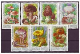 HUNGARY 3708-3714,unused,mushrooms - Unused Stamps