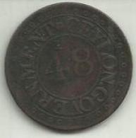 1/48 Rix Dollar 1802 Ceylão Rara - Sri Lanka