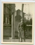 Snapshot Homme Man Militaire Mergerie Innsbruck 40s Post WW2 - Krieg, Militär