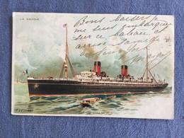 Paquebot «La Savoie»:voyage New York 1900 Cachet++ - Unclassified