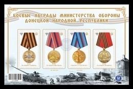 Ukraine (Donetsk) 2017 #68/71 (Bl.6) Medals Of Donetsk People's Republic MNH ** - Ucrania