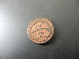 Vorderösterreich Further Austria 1 Kreutzer 1772 G - Small Coins & Other Subdivisions