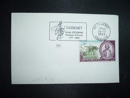 LETTRE TP NAPOLEON BONAPARTE 0,70 OBL.MEC.14-11 1969 84 CADENET VAUCLUSE André ESTIENNE Tambour D'Arcole - Napoleon