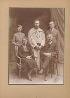 Grande Photo (16,5 X 23 Cm) : Photo De Famille Schwarz Léon Avec Le Fil Louis Moine (BP) - Oud (voor 1900)