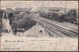 Gest. O-1000 Berlin Bahnhof Frankfurter Allee 1903 - Non Classificati