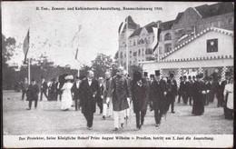 Gest. O-1000 Berlin Baumschulenweg Zement-und Kalkindustrieausstellung, Besuch Prinz August Wilhelm Von Preussen 1910 - Non Classificati