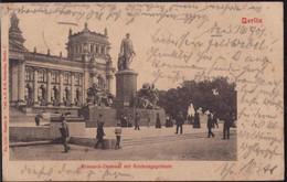 Gest. O-1000 Berlin Bismarckdenkmal Soldatenpost 1901 - Non Classificati