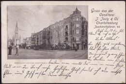 Gest. O-1000 Berlin Charlottenburg Konditorei Josty 1900, Min. Best. - Non Classificati