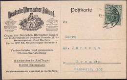 Gest. O-1000 Berlin Deutsche Uhrmacherzeitung 1917 - Non Classificati