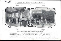 Gest. O-1000 Berlin Gruss Vom Sommerfest Des Vereins Deutscher Kaufleute 1902 In Kistenmachers Garten - Non Classificati