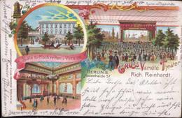 Gest. O-1000 Berlin Hasenheide 57 Variete-Theater Reinhardt 1899, Min. Best. - Non Classificati