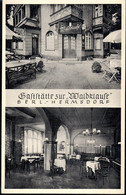 * O-1000 Berlin Hermsdorf Gasthaus Zur Waldklause - Non Classificati