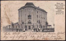 Gest. O-1000 Berlin Hohen-Schönhausen, Berlinerstraße 16 Gasthaus Wilhelmsberg 1904, Fleckig - Non Classificati