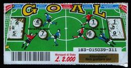 GRATTA E VINCI - 2000 -GOAL - VINCENTE - Lottery Tickets