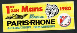 """Rare Sticker Autocollant """"24 Heures Du Mans - Automobiles Rondeau 1980""""  Course Automobile - Autorennen - F1"""