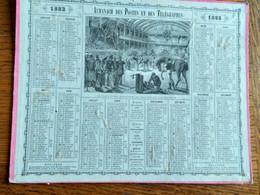 Calendrier Almanach Des Postes Et Des Télégraphes 1883 - Petit Format : ...-1900