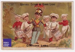 Chromo Compagnie Liebig S 79 Baster & Vieillemard Paris Fanfare Musique Cuisinier Tambour Orchestre Militaire A48-37 - Liebig