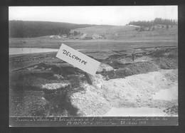 Construction Ligne Frasne-Vallorbe - Marais De Ste Marie - Crevasses à Gauche - 28 Mars 1913   Reproduction - Altri Comuni