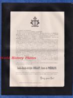 Document De 1899 - Château Du BOIS De La SALLE / Juliénas - Louis Joseph Adolphe GRILLOT Comte De PREDELYS - Nimes - Todesanzeige