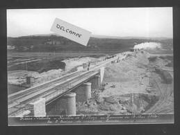 Construction Ligne Frasne-Vallorbe - Remblai De Ste Marie - Epreuves Du 13 Mai 1914 - Les 2 Trains De Machines Lourdes - Altri Comuni