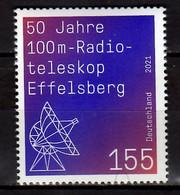 2021 Germany 50 Years Of 100m Radio Telescop Effelsberg MNH** Astronomy, Physics - Nuovi