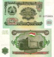 TAJIKISTAN, 50 RUBLEY, 1994, P5a, UNC - Tajikistan