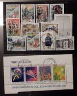 LF007 Italia 1999 27 Valori Usati E Blocco Il Francobollo Nostro Amico 2 Foto - 1991-00: Usados