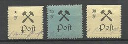 Deutschland 1945 Grossräschen Lokalausgabe Michel 15 & 20 & 22 MNH/MH - Sonstige