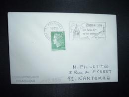 LETTRE TP M. DE CHEFFER 0,30 OBL.MEC.16-9 1971 71 FONTAINES SAONE ET LOIRE Son Eglise XVe Sa Tour St Hilaire - Annullamenti Meccanici (pubblicitari)