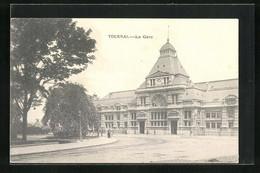 AK Tournai, La Gare, Bahnhofsgebäude - Tournai