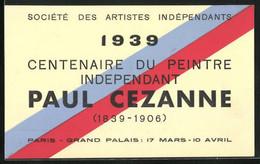 Künstler-AK Paris, Centenaire Du Peintre Independant Paul Cezanne 1839-1906 1939, Grand Palais, Ausstellung - Artisti