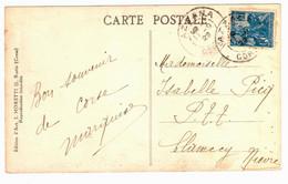 AZZANA Corse Carte Postale 50c Jeanne D'Arc Yv 257 Ob 1929 - Covers & Documents