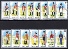 St Lucia 1985 Military Uniforms Unmounted Mint. - Ste Lucie (...-1978)
