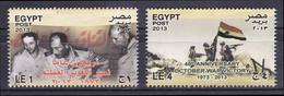 Egypt - 2013 - ( 6th Of October 1973 War Victory - President Anwar El Sadat ) - Complete Set - MNH (**) - Unused Stamps