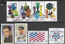US  1999  Sc#3328a-3332  8 Diff Used  2016 Scott Value $4.25 - Used Stamps