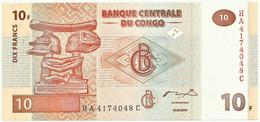 CONGO Democratic Republic - 10 Francs - 30.06.2003 - Pick 93 - Unc. - Demokratische Republik Kongo & Zaire