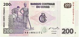CONGO Democratic Republic - 200 Francs - 31.07.2007 - Pick 99 - Unc. - Demokratische Republik Kongo & Zaire