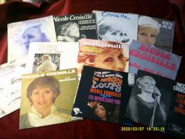Collection De 11  Vinyles Differents De Nicole Croisille - Collezioni