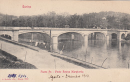 TORINO-PONTE REGINA MARGHERITA-CARTOLINA  NON VIAGGIATA  -DATATA AL VERSO 1903 - Bridges