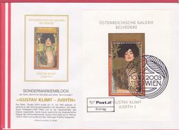 FDC 2003 - Mi 2449 (1) , Berühmte Gemälde - Gustav Klimt : Judith , SST 1150 Wien - 2001-10 Briefe U. Dokumente